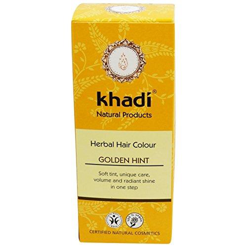 KHADI Tinte Vegetal Dorado - Color brillo duraderos