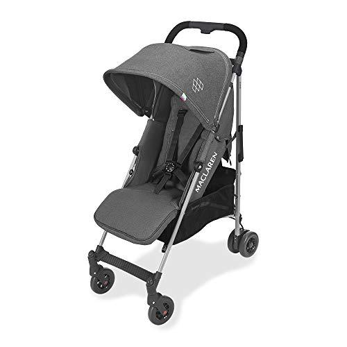 Maclaren Quest arc Silla de paseo, ligero, manillar unido para recién nacidos hasta los 25 kg, Asiento multiposición, suspensión en las 4 ruedas, Carbón