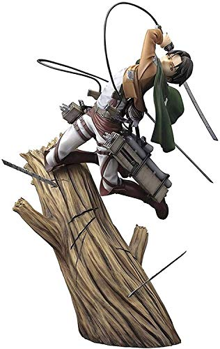 Anime Attaque sur Titan Figure Figurine Levi Ackerman Figurine Pop Attack on Titan Personnage Figurine Statue en PVC Figurine Modèle de Personnage Figurine Ornements de Ackerman 28cm