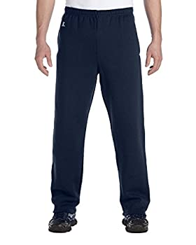 Russell Athletic Men s Dri-Power Open Bottom Sweatpants with Pockets Navy Large