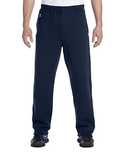 Russell Athletic Men's Dri-Power Open Bottom Sweatpants with Pockets, Navy, Medium