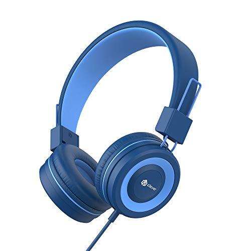 iClever Kinder Kopfhörer, Kabel Kopfhörer für Kinder, Verstellbares Stirnband, Stereo Sound, Faltbare, Entwirrte Drähte, 3,5 mm Aux Jack, 85dB Volume Limited