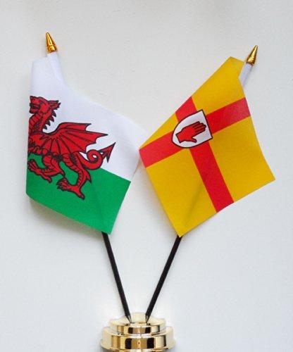 Pays de Galles et l'amitié d'Ulster Drapeau de table écran 25 cm (25,4 cm)
