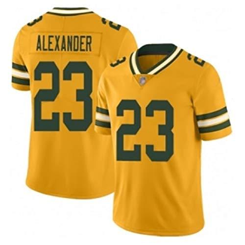 TIEON Hombres Fútbol Wear Packers No. 55 No. 33 JONES SMITH 23 ALEXANDER camisetas de fútbol elástico transpirable tejido de secado rápido C-M
