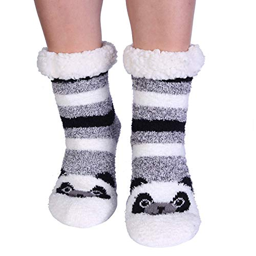 Jeasona Ladies Fluffy Slipper Socks