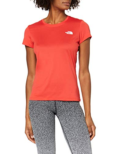 The North Face Reaxion Amp Crew Camiseta, Mujer, Juicy Red/TNF White, S