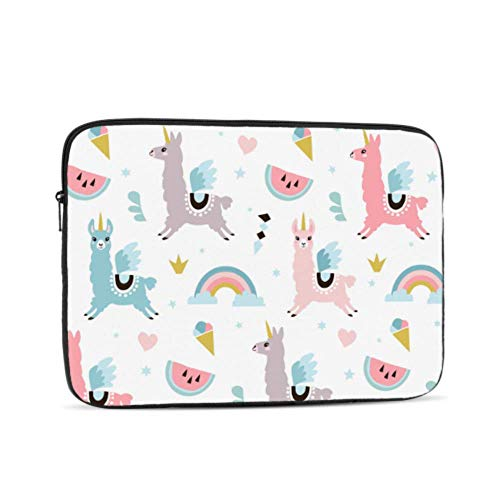 Laptop Sleeve Case 13 Inch Cute Unicorn Llama Alpaca Pattern Laptop Sleeve/notebook Computer Pocket Case/tablet Briefcase Carrying Bag