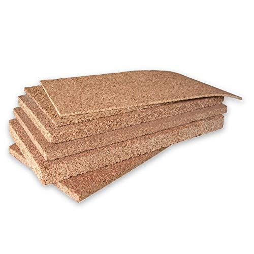 ARTIMESTIERI - Pannelli di Sughero da 1 a 10 cm di spessore - isolamento termico,acustico tetti cappotti e pavimenti - 2cm - conf. da 7.5 mq