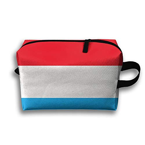 Bolsa de maquillaje portátil de bandera de Holanda. Bolsas de cosméticos de viaje para regalos para mujeres jóvenes