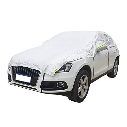 Graceru Lona protectora para coche, lámina de aluminio supergruesa, protección contra heladas, cubierta plegable para coche, cubierta de nieve, parabrisas, protección solar contra la nieve, el polvo