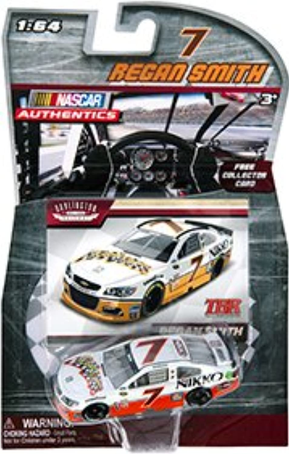 2016 Regan Smith Darlington Throwback  7 Nikko Road Rippers 1 64 Scale Diecast Car With Collector Card NASCAR Authentics