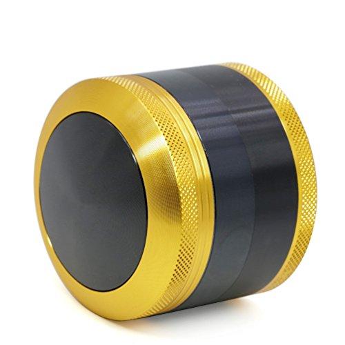 Imagen del producto TANKASE Convexo Premium Aluminio CNC Grinder Molinillo Triturador de Especias y Hierba con Rascador Polen 4 Capas 2.5