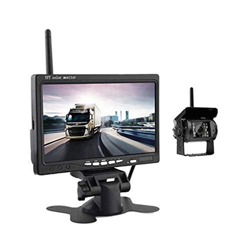 Cámara De Marcha Atrás HD Inalámbrica - Sistema De Asistencia De Estacionamiento Inalámbrico Con Monitor LCD De 7 Pulgadas Cámara De Coche Inalámbrica IP67 Con Visión Nocturna De 18 IR LED,1 camera