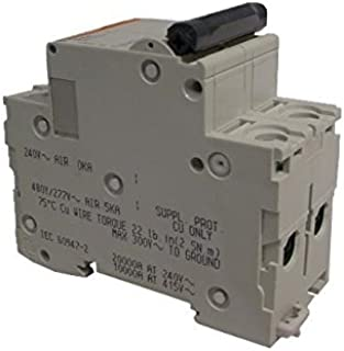 8 Ampere Maximum UL 1077 Rated Siemens 5SY44088 Supplementary Protector 4 Pole Breaker Tripping Characteristic D DIN Rail Mounted