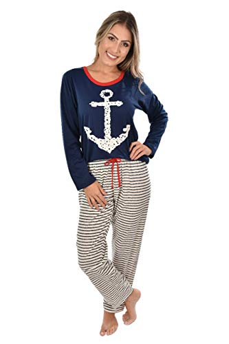 Pijama Longo Ayron Fitness Ancora Feminino Mãe Adulto (GG)