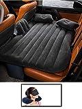 HSR Car Travel Inflatable Car Bed Mattress with 2 Air Pillows, Car Pump and Repair Kit (Black &...