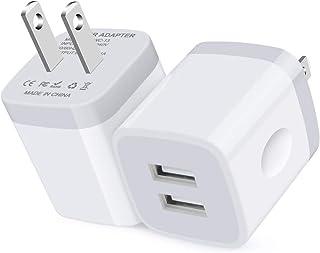 USB充電器 USB電源アダプター (2USBポート 2.1A 軽量でコンパクト 2個セット) Ailkin usbアダプター アイホン充電器 スマホ 充電器 usbコンセント 充電アダプター ac充電器 ipad 充電器 急速充電iPhone...