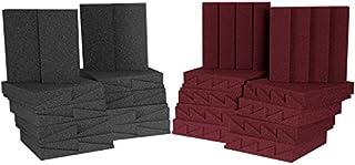 Auralex D36CHA/BUR Roominator Series Pro - Panel (30,5 x 30,5 x 5 cm), color gris y rojo