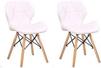 Conjunto com 2 Cadeiras Tulipa Eiffel Branco