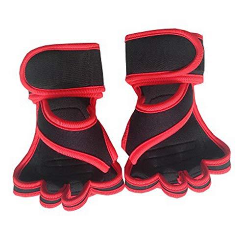 ARMWEQD Fitnesshandschuhe 1 Paar Fitnesshandschuhe Mit Handballenunterstützung Handballenschutz Fitnessübungen Gewichtheben
