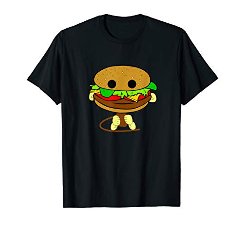 Burger Monkey Absurd Funny Goofy T-Shirt