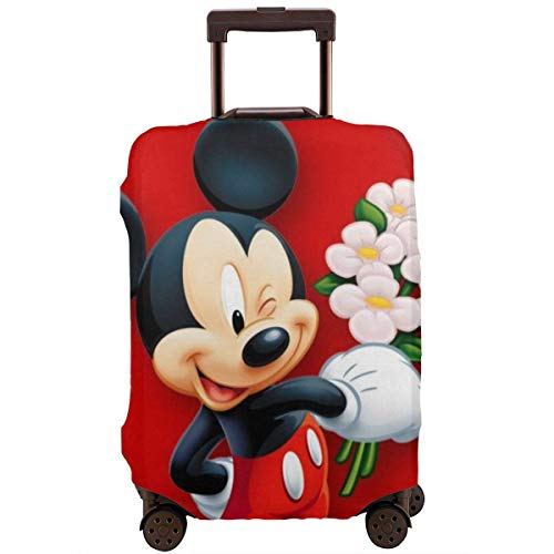 Travel Luggage Cover Mickey Mouse Minnie Love Couple Heart Suitcase Protector Washable Baggage Covers 18-32 Inch-M