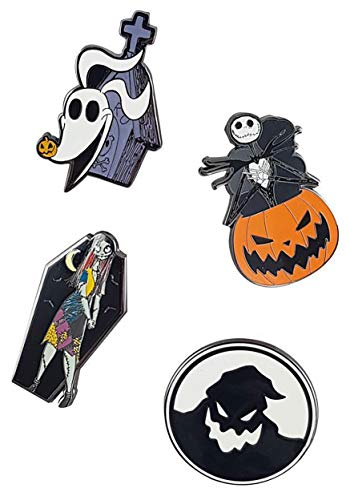 Nightmare Before Christmas 4 Pack Enamel Pins from Loungefly Standard