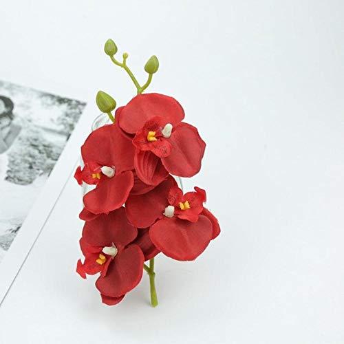 Kunstmatige vlinder orchidee boeket nep planten vaas voor thuis bruiloft decoratie sier bloempot goedkope zijden bloemen string, rood