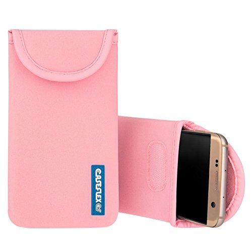 Caseflex Kompatibel FürOnePlus 3T Tasche, Neoprene Beutel Hülle/OnePlus 3T Pouch/Skin/Cover - Hellrosa