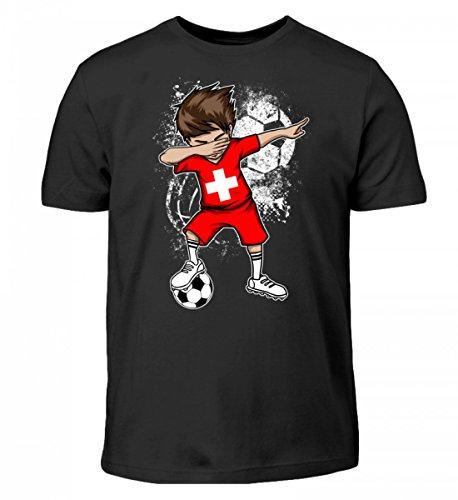 Hochwertiges Kinder T-Shirt - Dabbender Fußball Junge Schweiz/Fußball Trikot/Nationalmannschaft/Geschenk WM