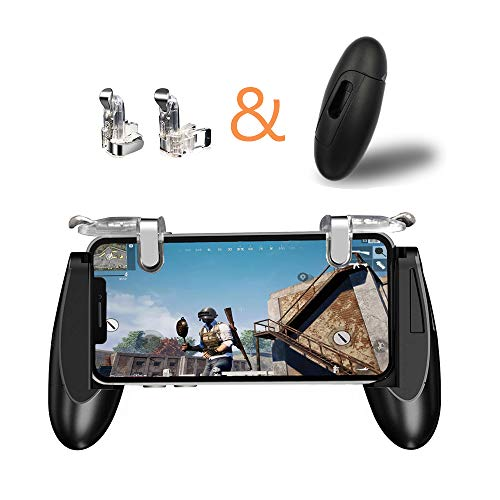 Sunny seat Mobile Game Controller Claw Phone Aim Controller Triggers Joystick Gamepad Android iOS Joypad Fire Button Game Grip Mobile Phone Triggers(Adjustable Clip, 6 Fingers Cooperation)