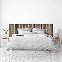 MEGADECOR Cabecero Cama PVC Decorativo Económico Textura de Tablas Distintos Colores Envejecidas Varias Medidas (150 cm x 60 cm)