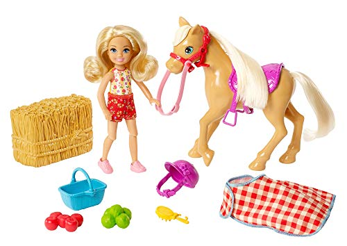 Barbie GFF50 - Spaß auf dem Bauernhof Chelsea und Pony, Spielzeug ab 3 Jahren