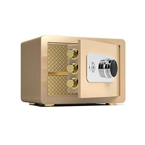 YWSZJ Mecánica de Bloqueo automático Armario de la Caja de joyería Caja Invisible Inicio de Acero Home Office Small contraseña antirrobo en la Pared Anti-Fisgón (Color : Tyrant Gold)