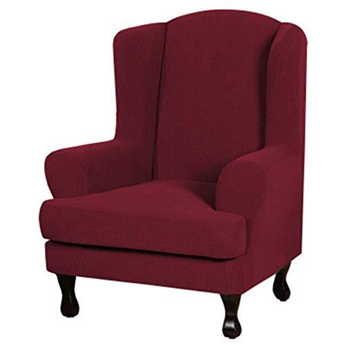 DQWGSS Fundas para sillón de Orejas elásticas Premium de 2 Piezas, Fundas para sofás, Resistentes al Deslizamiento, Lavables a máquina para sillón de Orejas (Color: Color 8)
