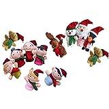 Toyvian Marionetas de dedo de Navidad, 11 unidades, de dibujos...