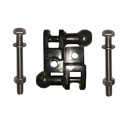 Kit Soporte Toldo Color Negro, Tornillos Inoxidables M-8X70, Arandelas y Tuercas