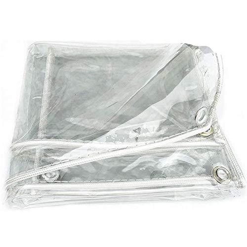 SSNG Lonas,Toldo Impermeable Transparente,Lona De PláStico Transparente Resistente A La Lluvia,Lonas Transparente De MúLtiples Funciones Impermeable Lona Cubierta,0.3mm(Size: 0.5 * 6m(1.6 * 19.7ft))