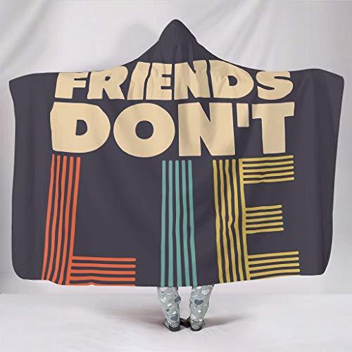 NiTIAN Friends Don't Lie Serie Wearable Tapijtshooded Throw Wrap Warme plafond winter TV computer microvezel deken voor kinderen