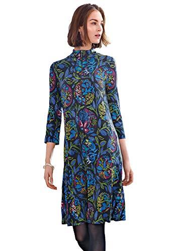 Looxent Damen Jersey-Kleid mit 3/4-Arm Reißverschluss
