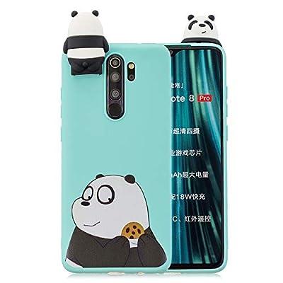 SEEYA Funda Silicona para Xiaomi Redmi Note 8 Pro Carcasa 3D Oso Diseño Azul Divertidas Caricatura con Función de Soporte Suave Flexible Delgado Bumper Ultrafina Caso para Redmi Note 8 Pro