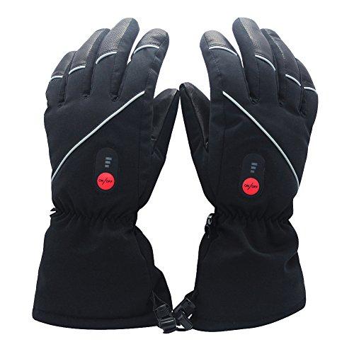 Savior beheizte Handschuhe für Männer und Frauen, Palm Lederhandschuhe für Winterski und Eislaufen , Arthritis Handschuhe und 7.4V 2200...