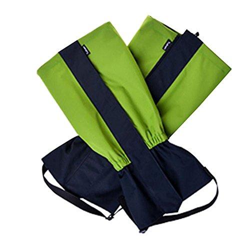 Black Temptation Randonnée/Escalade/Camping/Ski Chaussures Gaiter pour Enfants- Vert