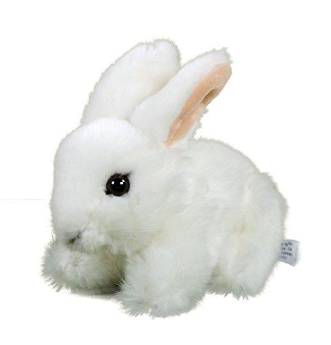 Teddys Rothenburg Kuscheltier Hase Hoppel liegend weiß 18cm Plüschtier Plüschhase