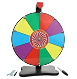 Whirl of Fun Prize Wheel 12 Inch Tabletop-10 Color Slots, Write on Erasable Whiteboard Surface, Easy Assembly, Tools and Dry Erase Marker Included, Made in USA
