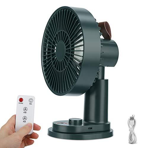 Ventilator,Leise Tischventilator mit Clip 180 ° Schüttelkopf Mini USB Ventilator mit Fernbedienung Luftzirkulator Turmventilatoren für Schlafzimmer Büro Kinderwagen Camping