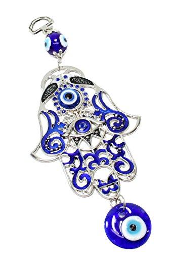 Turco azul (Nazar) diseño de ojo 3'Mano de Fátima amuleto de elefante colgante de pared decoración del hogar protección bendición regalo de inauguración de la casa cumpleaños nosotros vendedor