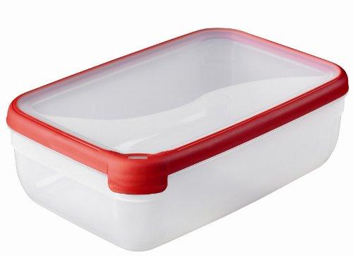 CURVER | Boîte Grand Chef rectangulaire 4L, Rouge, 30 x 20 x 9,4 cm, Plastique