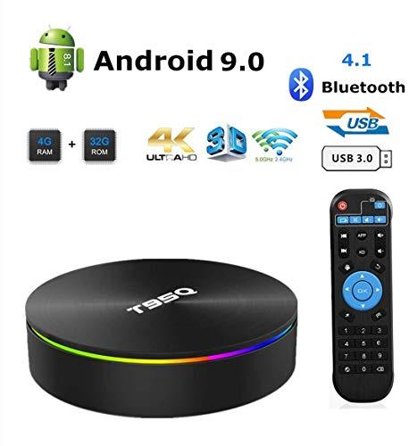 Android 9.0 TV Box, Smart Box 4GB RAM 32GB ROM Network Set Top Box Amlogic S905X2 Quad-core Cortex-A53 Support 2.4G/5G Dual Band WiFi 1000M Ethernet/Bluetooth 4.1/H.265 Decoding/4K HDR