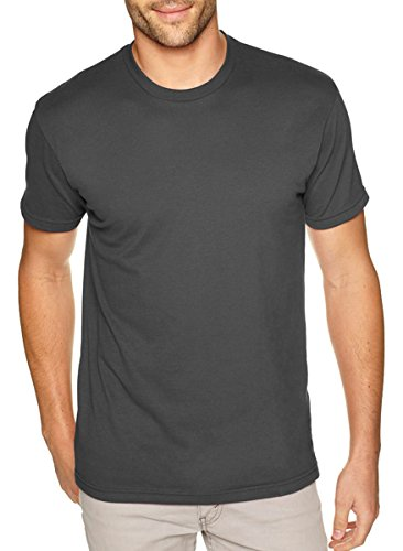 NEXT LEVEL APPAREL 6410 Mens Premium Fitted Sueded Crew Tee - Heavy Metal44; Large